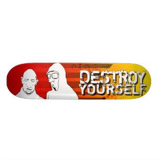 destroy yourself - sun skateboard deck