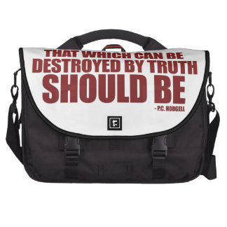 Destroyed by Truth Laptop Bag