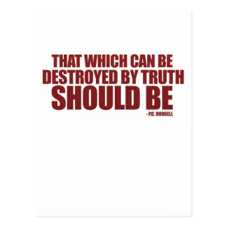Destroyed by Truth Postcard