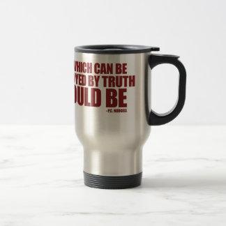 Destroyed by Truth Travel Mug