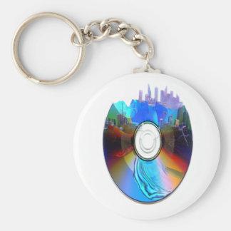 Destroyed CD basic keychain