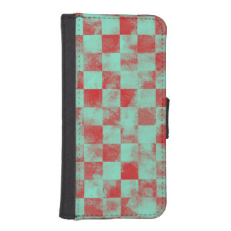 Destroyed Checkered Candy iPhone SE/5/5s Wallet Case