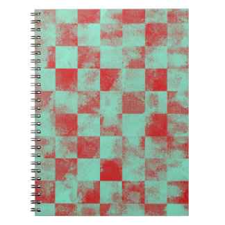 Destroyed Checkered Candy Notebooks