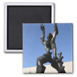 Destroyed City 2 Inch Square Magnet