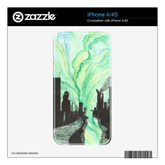 Destroyed City Skyline Skins For iPhone 4