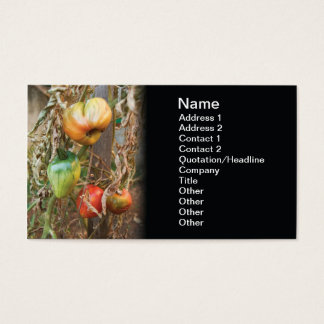 Destroyed crops business card