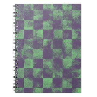 Destroyed Joker Checkered Notebook