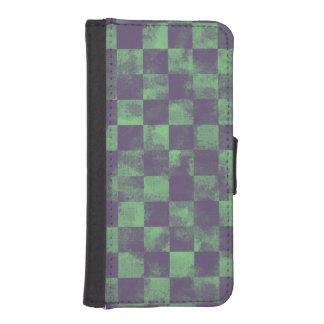 Destroyed Joker Checkered Wallet Phone Case For iPhone SE/5/5s