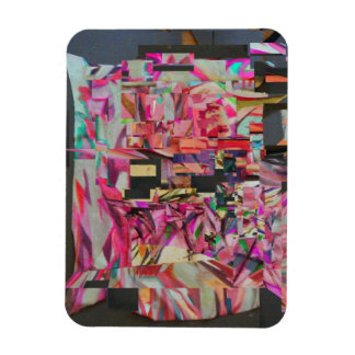 Destroyed Painting Digital Art Magnet