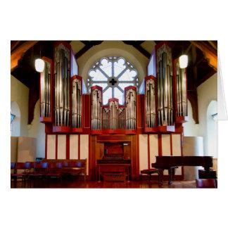 Destroyed pipe organ, Merivale, Christchurch Card