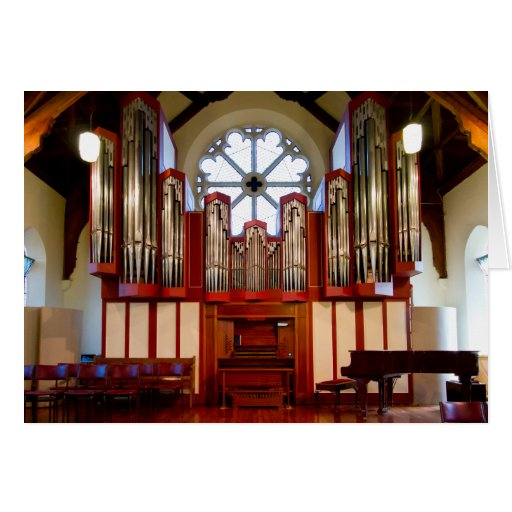 Destroyed pipe organ, Merivale, Christchurch Card