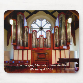 Destroyed pipe organ, Merivale, Christchurch Mouse Pad