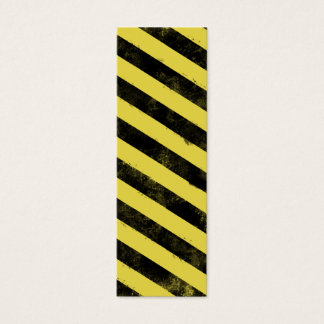 Destroyed Warning Bookmark Mini Business Card
