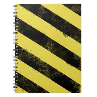 Destroyed Warning Notebook