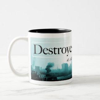 Destroyer of Worlds Mug: Blue Two-Tone Coffee Mug