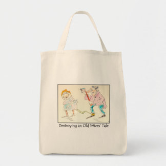 Destroying an Old Wives' Tale Reusable Grocery Bag