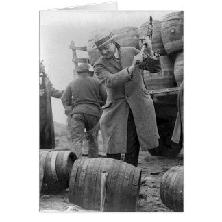 Destroying Kegs of Beer, 1924 Card