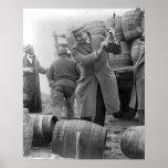 Destroying Kegs of Beer, 1924 Poster