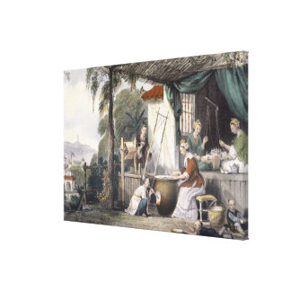 Destroying the Chrysalids and Reeling the Cocoons, Gallery Wrap Canvas