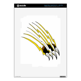 Destrozo de ataque de la garra de oso iPad 3 skin
