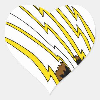 Destrozo de ataque de la garra de oso pegatina en forma de corazón