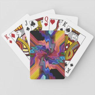 Destrozo del átomo barajas de cartas