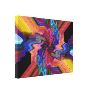 Destrozo del átomo impresión en lienzo