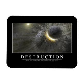 Destrucción: Cita inspirada 2 Iman De Vinilo