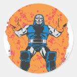 Destrucción de Darkseid Pegatina Redonda