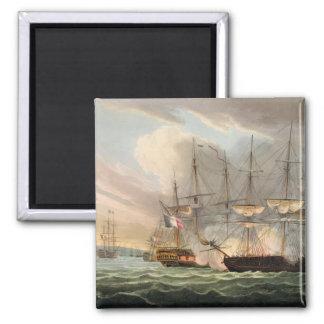 Destrucción de la flota francesa en caminos vascos imán cuadrado