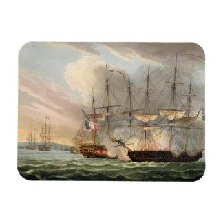 Destrucción de la flota francesa en caminos vascos imán foto rectangular