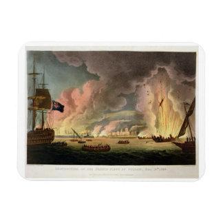 Destrucción de la flota francesa en Toulon, décimo Imán De Vinilo