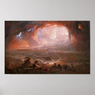 Destrucción de Pompeya y de Herculano Póster