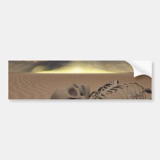 Destrucción del desierto etiqueta de parachoque
