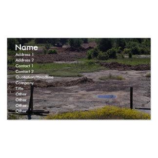 Destrucción del hábitat del afloramiento del grani plantillas de tarjetas de visita