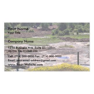 Destrucción del hábitat del afloramiento del tarjetas de visita