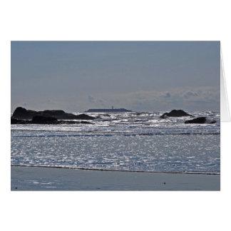 Destruction Island Lighthouse from Ruby Beach Card