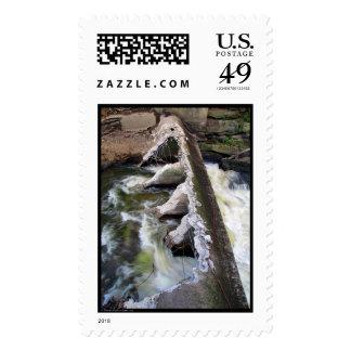 Destruction of Cuyahoga Falls Dam Stamp