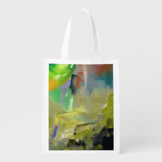 Destruction of Gold Abstract Grocery Bag