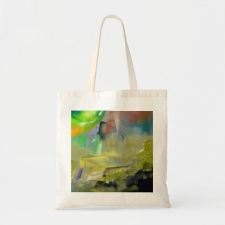 Destruction of Gold Abstract Tote Bag