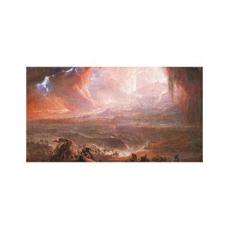 Destruction Of Pompeii And Herculaneum Canvas Print