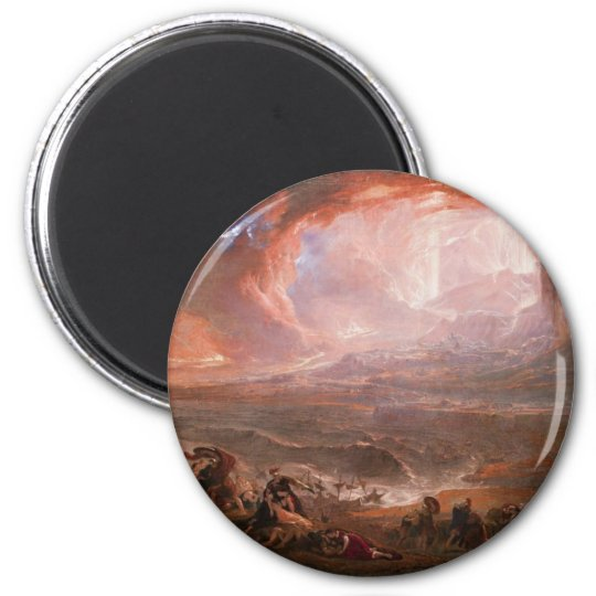Destruction Of Pompeii And Herculaneum Magnet