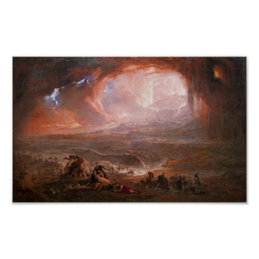 Destruction Of Pompeii And Herculaneum Poster