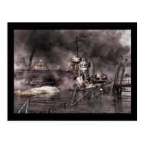 Destruction of Ship Postcard