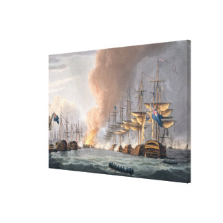 Destruction of the Danish Fleet before Copenhagen, Canvas Print