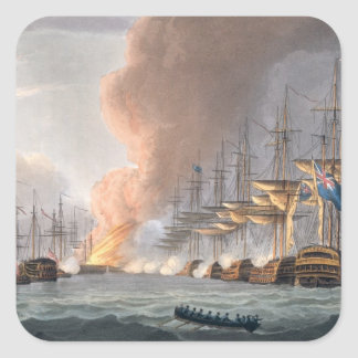 Destruction of the Danish Fleet before Copenhagen, Square Sticker