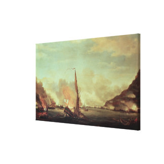 Destruction of the floating batteries at canvas print