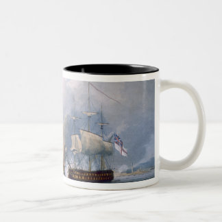 Destruction of the French Frigates L'Arianne & L'A Two-Tone Coffee Mug