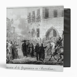 Destruction of the Inquisition in Barcelona 3 Ring Binder