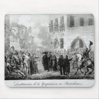 Destruction of the Inquisition in Barcelona Mouse Pad